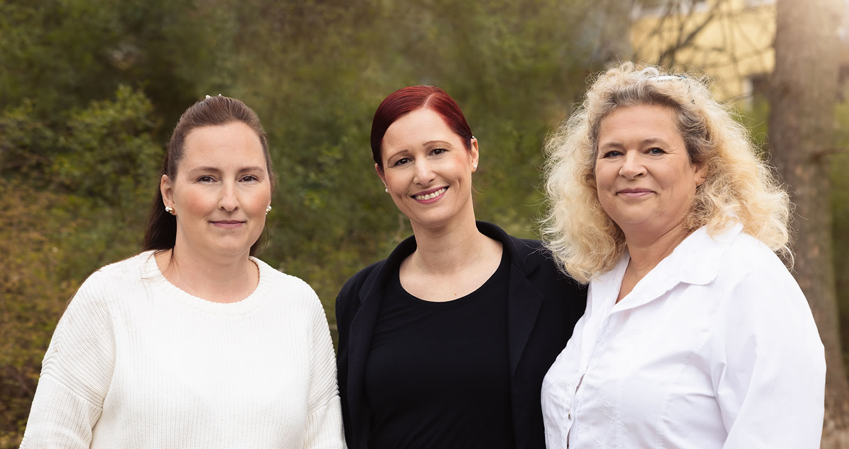 MFAs der Schmerzambulanz Melanie Hegert, Melanie Richter, Manuela Jeske